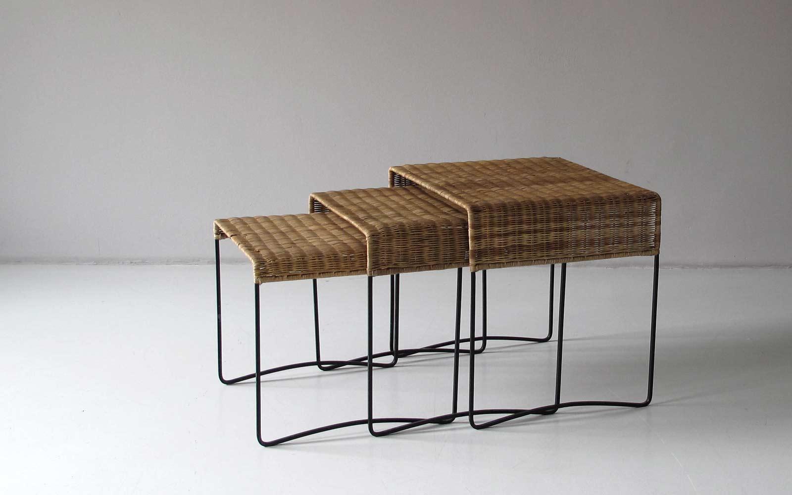 Wicker Nesting Tables